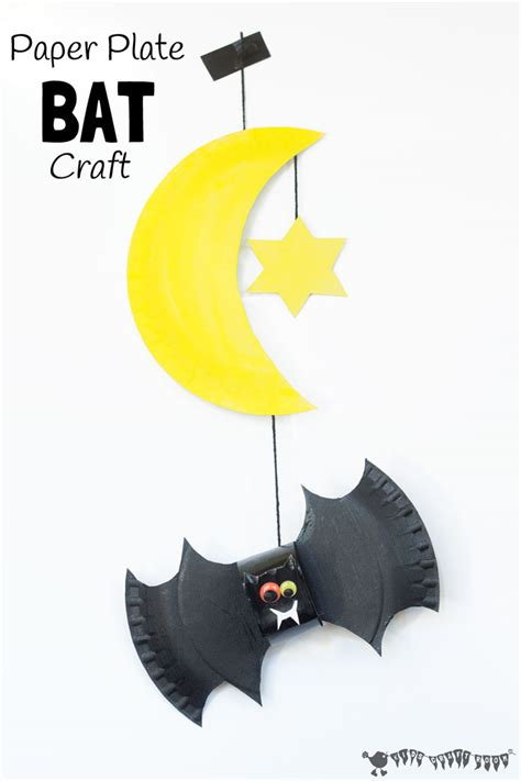 bat paper plate craft paper plate bat craft and mobile craft room
