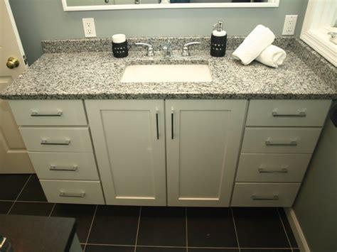 semi custom bathroom vanity semi custom vanity white shaker doors with granite top