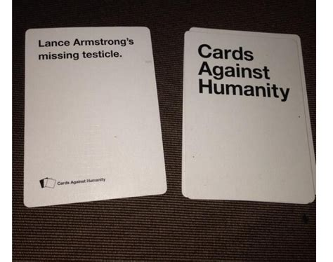how to make cards against humanity lance armstrong gets cards against humanity card about