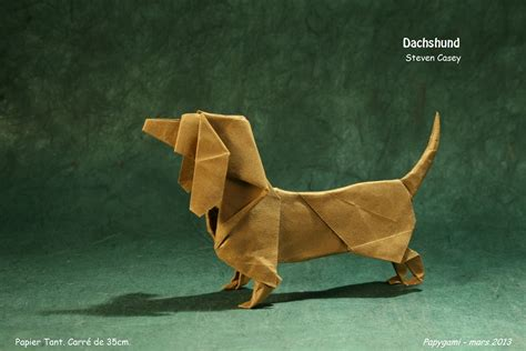 dachshund origami 22 excellent origami models for