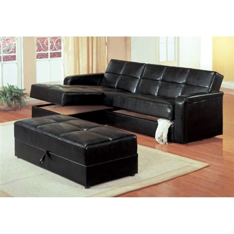 sleeper sofa chaise kuser contemporary chaise sofa sleeper sectional with storage