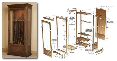 woodworking plans gun cabinet gun cabinets build your own woodworking plans
