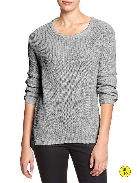 shaker knit sweater banana republic factory shaker knit sweater in beige