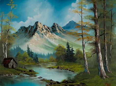 bob ross paintings for sale bob ross mountain cabin paintings for sale bob ross