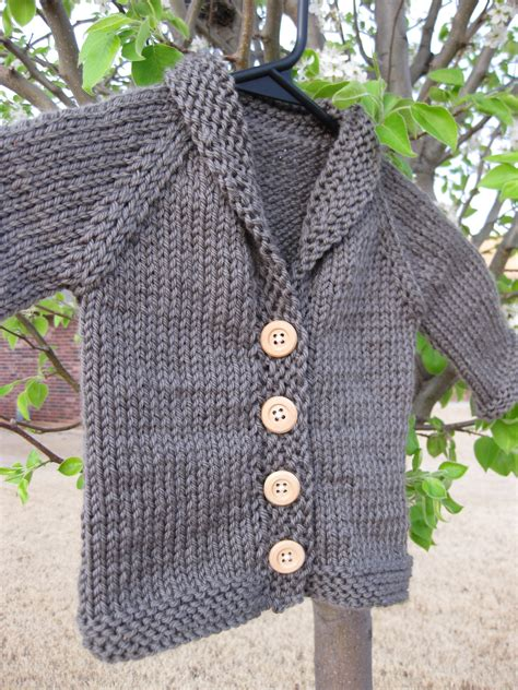 cardigan free knitting pattern baby sophisticate stockinette