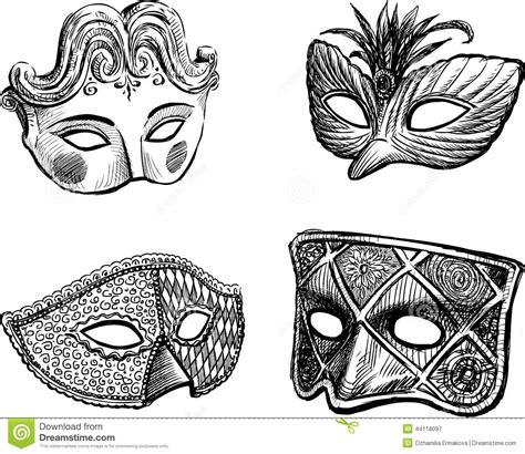 carnival venetian masks stock vector image 44118097