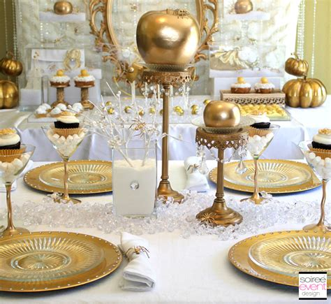 gold and white decorations quot bitten quot snow white witch s budget chic tips
