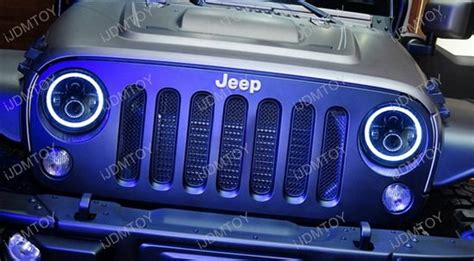 Running Head Lamps by Jeep Wrangler Cj 40w High Power Cree 7 Inch Round Led