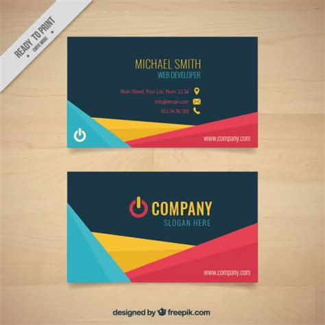 card companies abstract shapes company card with symbol vector