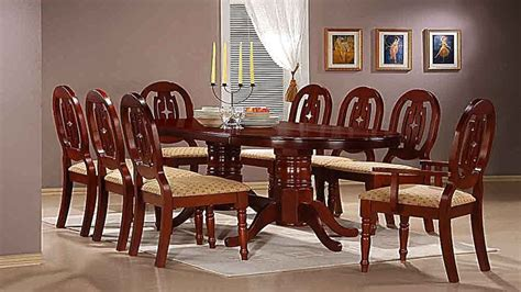 dining table and chairs for 6 mahogany dining table with 6 chairs and 2 carvers homegenies