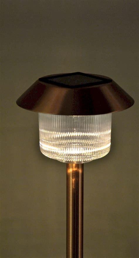 homebrite solar lights set of 12 solar power belmont path copper finished lights