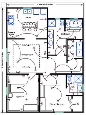 floor plan with electrical symbols residential wire pro software draw detailed electrical