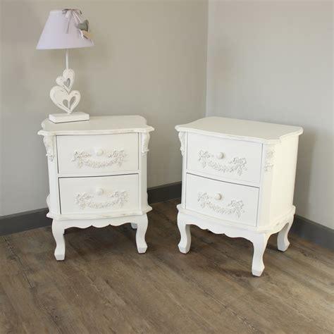 vintage bedroom furniture uk white ornate style set of 2 home bedroom furniture