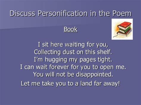 personification picture books personification lesson ppt