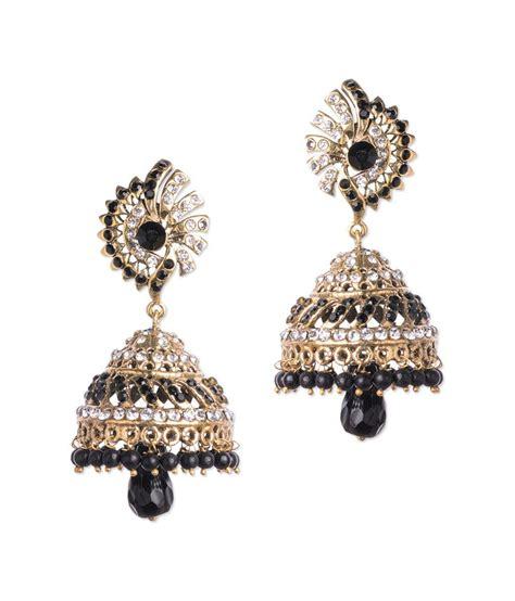 designer chandelier earrings bazarvilla black pearls designer chandelier earrings buy
