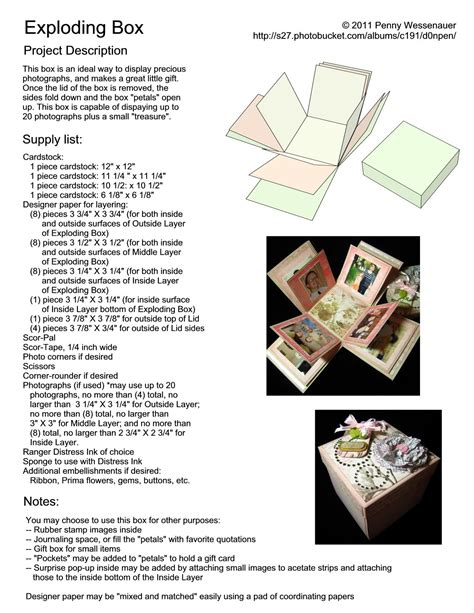 Exploding Box Page 1 Crafts
