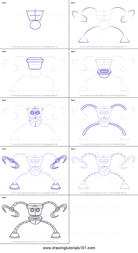 how to draw a toilet how to draw robo toilet 30000 from breadwinners printable