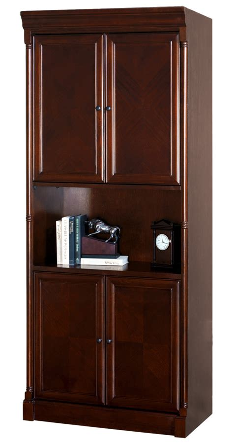 enclosed bookshelves mount view cherry traditional furniture 60 quot w