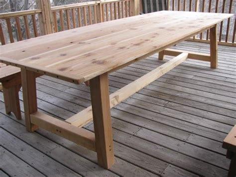cedar patio table handmade large outdoor dining table cedar by