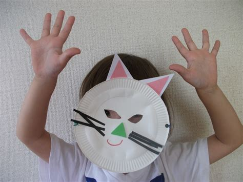 paper plate preschool crafts paper plate cat mask craft preschool education for