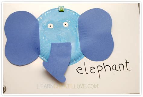 paper craft elephant simple paper plate elephant craft