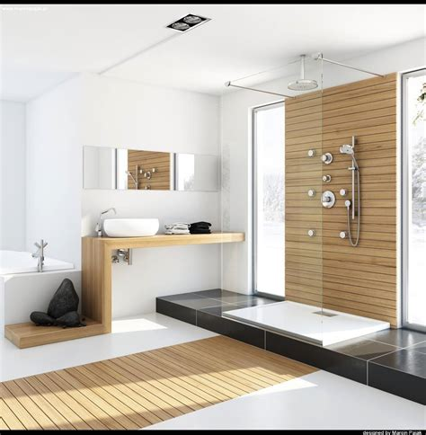 modern homes bathrooms modern bathroom with unfinished wood interior design ideas