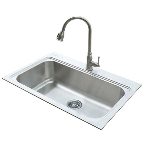 steel kitchen sinks shop american standard 22 in x 33 in silver single basin
