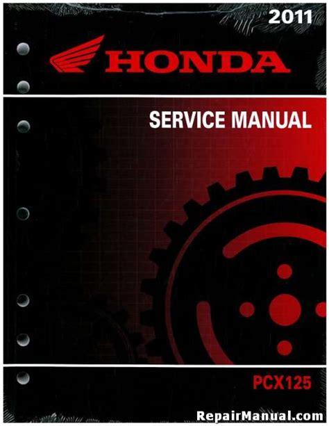 Pcx 2018 Pdf by 2011 Honda Pcx125 Scooter Service Manual