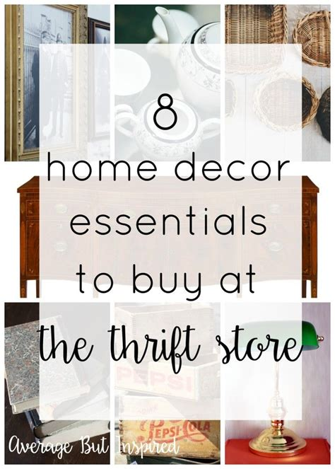 8 home decor essentials to buy at the thrift store trips