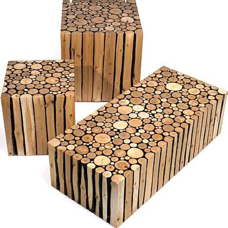 modern craft projects creative custom log craft rustic modern wood furniture