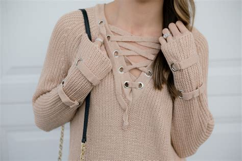 knit up lace up knit sweater otk boots the styled press