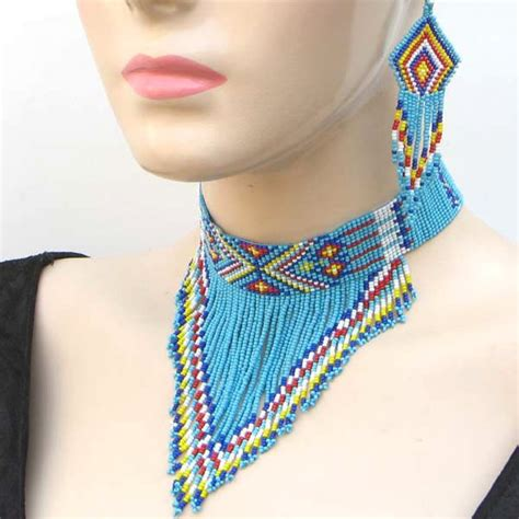 where to buy beaded necklaces new turquoise blue chunky beaded choker bib necklace