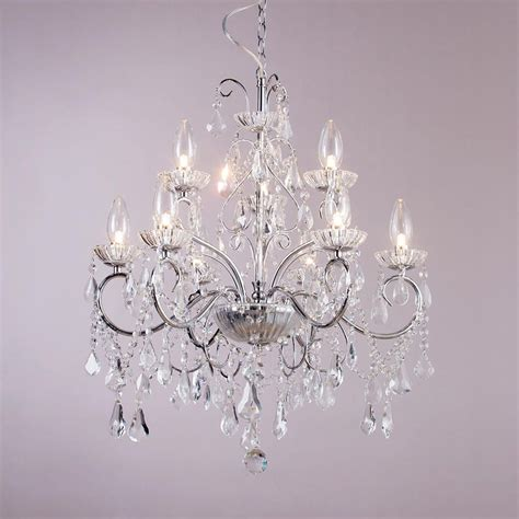 vara 9 light bathroom chandelier chrome
