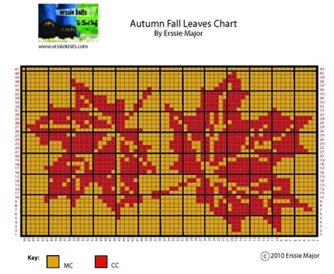 knitting from charts erssie knitting charts autumn leaves chart