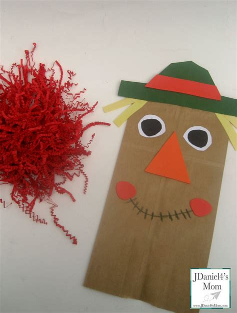 scarecrow paper bag craft craft for paper bag scarecrow