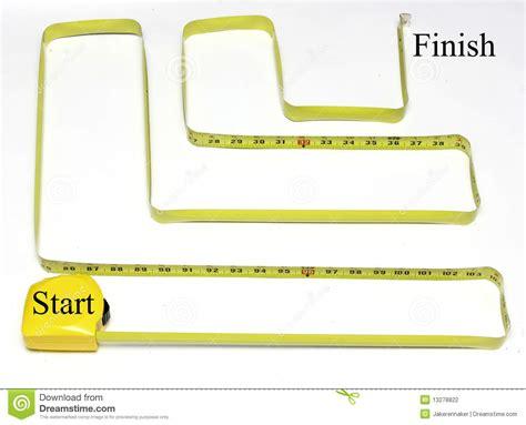 start to finish measuring maze start to finish stock photo image