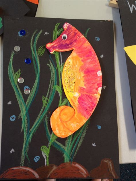 seahorse paper plate craft 552 best images about sea and themes on