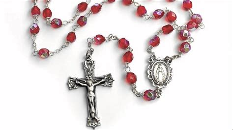 catholic rosary bohemian glass birthstone rosary ruby july the