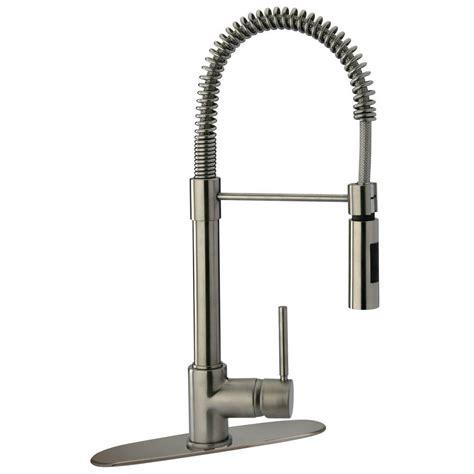 glacier kitchen faucet glacier bay series 400 single handle pull sprayer