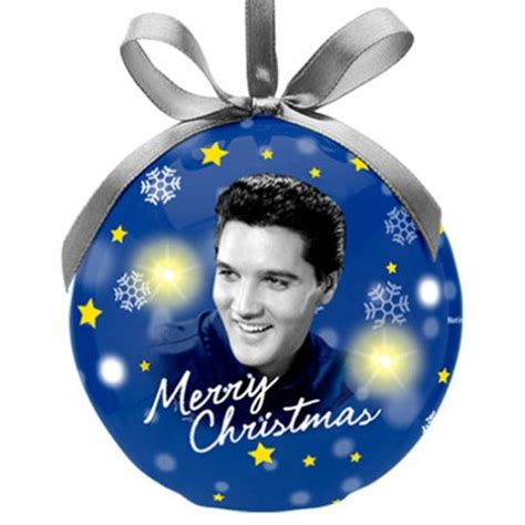 elvis ornament elvis blue ornament with led light