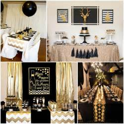 black decorations black and gold table decorations deco