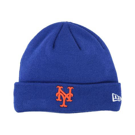 mets knit hat new era new york mets basic cuffed knit hat in blue for