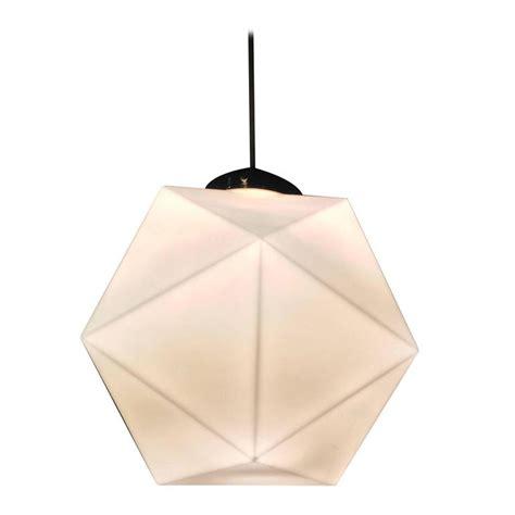 milk glass pendant light mid century faceted milk glass geometric pendant light at