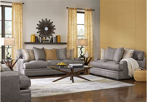 grey living room set home palm springs gray 5 pc living room