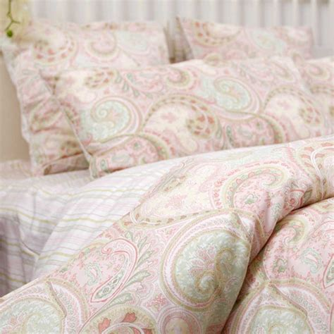 paisley bed sets custom made size pink paisley bedding set