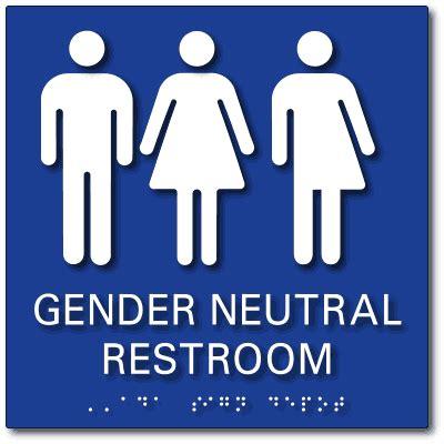 Gender Neutral Bathrooms by Gender Neutral Bathroom Signs Ada Restroom Signs