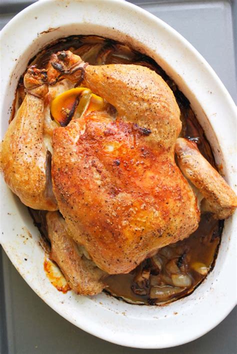 roast whole chicken simple whole roasted chicken recipe with lemon