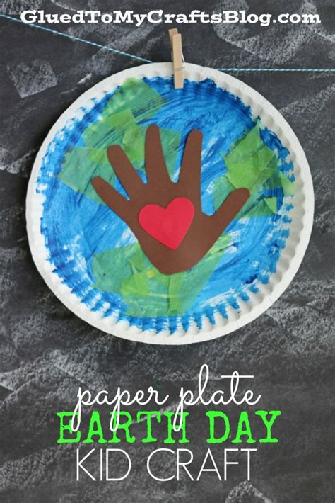 earth day paper crafts paper plate earth day kid craft glued to my crafts