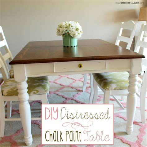 chalk paint distressing diy diy distressed chalk paint table