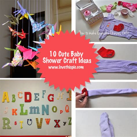 baby craft projects 10 baby shower craft ideas